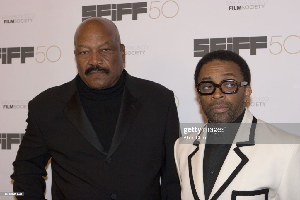Jim Brown and Spike Lee during 50th Annual San Francisco International Film Festival - Film Society Awards Night at Westin St. Francis Hotel in San Francisco, CA, United States.