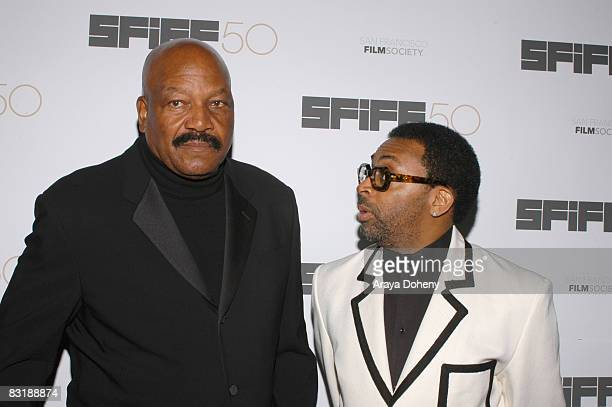 Jim Brown and Spike Lee Recipient of the Film Society Directing Award