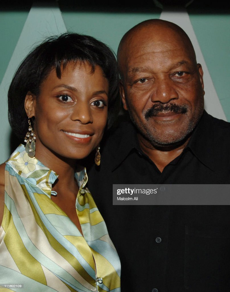 Jim Brown and wife Monique during Bill Bellamy Surprise 40th Birthday Party at Monroe's in West Hollywood, California, United States.