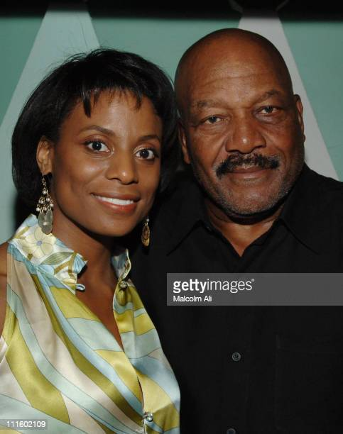 Jim Brown and wife Monique during Bill Bellamy Surprise 40th Birthday Party at Monroe's in West Hollywood California United States