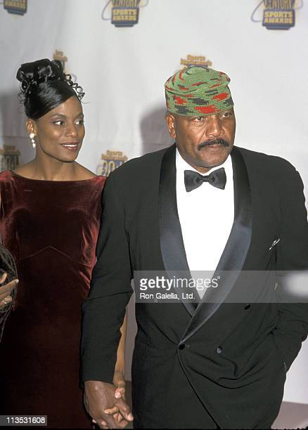 Jim Brown And Wife Monique during Sports Illustrated 20th Century Sports Awards at Madison Square Garden in New York City, NY, United States.