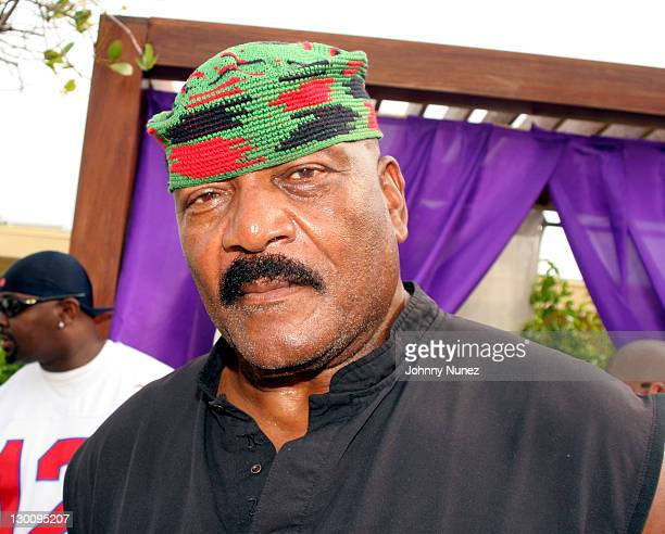 Jim Brown during 2005 MTV VMA John Singelton Party Hosted by DJ Biz Markie and Snoop Dogg at Sanctuary Hotel in Miami Florida United States