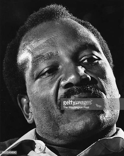 Jim Brown former Cleveland Browns running back and Movie Star speaks in an interview at the Four Seasons Hotel in Washington DC on February 15 1984