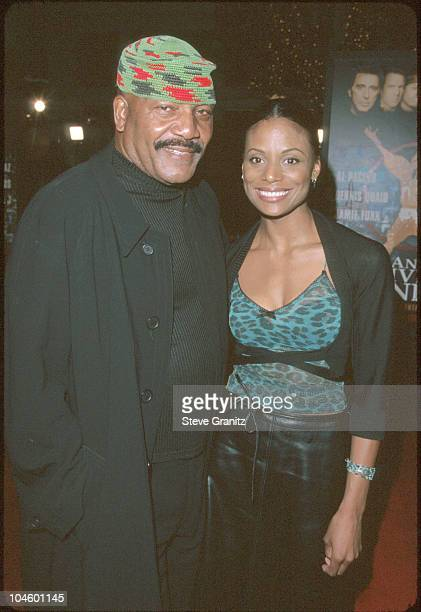 Jim Brown Wife during Any Given Sunday Los Angeles Premiere at Mann Village Theatre in Westwood California United States
