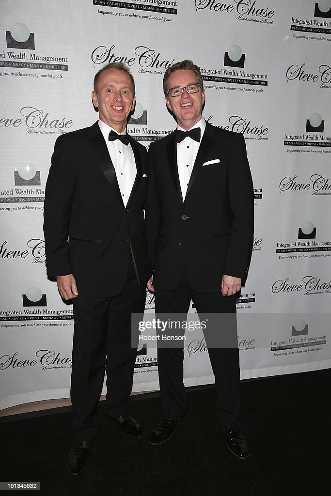 Jim Burba (L) and Bob Hayes arrive at the 19th Annual Steve Chase Humanitarian Awards Gala at the Palm Springs Convention Center on February 9, 2013 in Palm Springs, California.