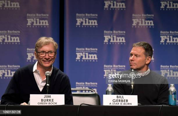 Jim Burke and Bill Gerber speak onstage at the Producers Panel during the 34th Santa Barbara International Film Festival at Lobero Theatre on...