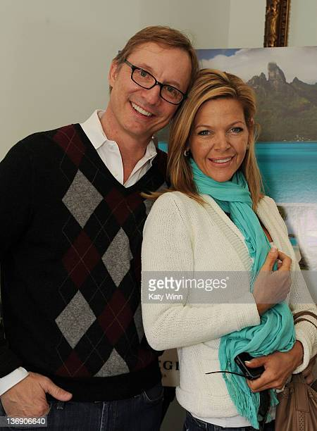 Jim Burke and Christina Simpkins attends the 2012 DPA Golden Globe Awards Gift Suite on January 12 2012 in Beverly Hills California