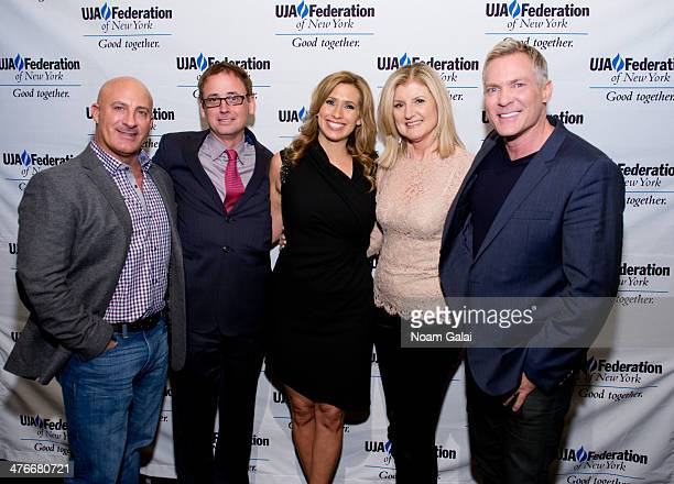 Jim Cantore David Kenny Stephanie Abrams Arianna Huffington and Sam Champion attend the UJAFederation's 2014 Digital Media Award Celebration at The...