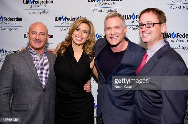 Jim Cantore Stephanie Abrams Sam Champion and David Kenny attend the UJAFederation's 2014 Digital Media Award Celebration at The Edison Ballroom on...