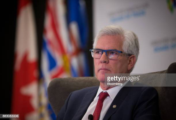 Jim Carr Canada's minister of natural resources listens during the Greater Vancouver Board of Trade's annual Energy Forum in Vancouver British...
