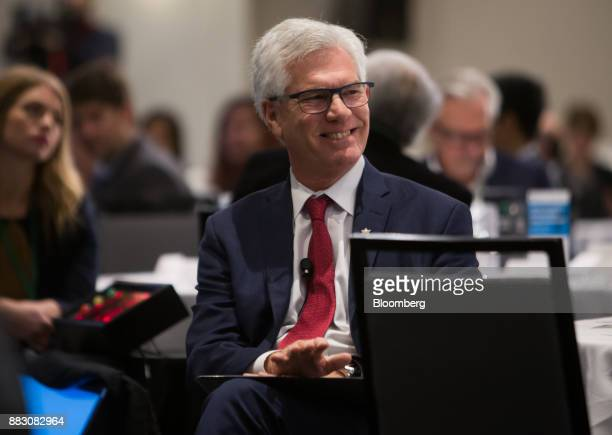 Jim Carr Canada's minister of natural resources smiles during the Greater Vancouver Board of Trade's annual Energy Forum in Vancouver British...