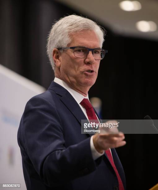 Jim Carr Canada's minister of natural resources speaks during the Greater Vancouver Board of Trade's annual Energy Forum in Vancouver British...