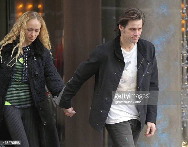 Jim Carrey and Anastasia Vitkina are seen on February 12 2012 in New York City