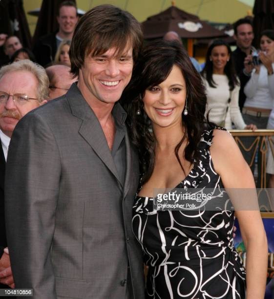 Jim Carrey and Catherine Bell during The World Premiere of Bruce Almighty at Universal Amphitheatre in Universal City California United States