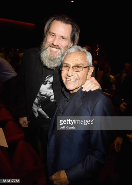 Jim Carrey and George Shapiro at the LA Premiere of If You're Not In The Obit Eat Breakfast from HBO Documentaries on May 17 2017 in Beverly Hills...
