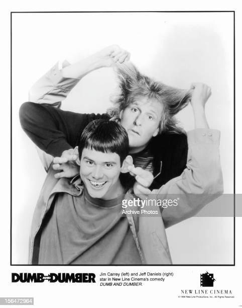 Jim Carrey and Jeff Daniels publicity portrait for the film 'Dumb Dumber' 1994