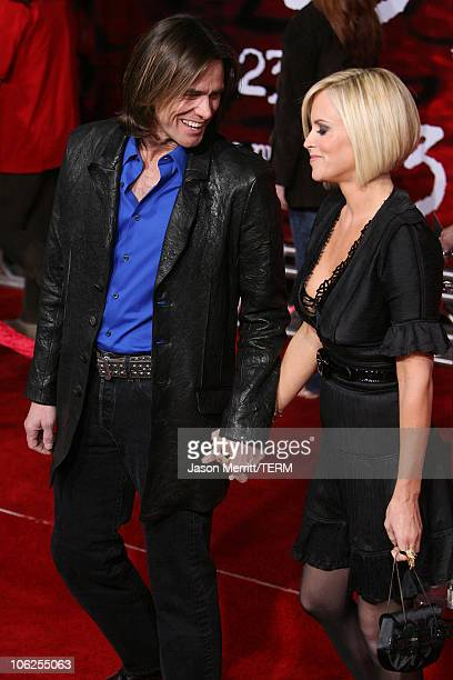 Jim Carrey and Jenny McCarthy during 'The Number 23' Los Angeles Premiere at The Orpheum Theater in Los Angeles California United States