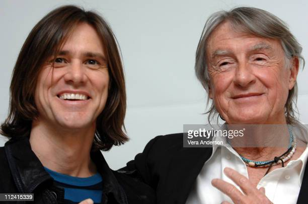 Jim Carrey and Joel Schumacher during The Number 23 Press Conference with Jim Carrey Virginia Madsen and Joel Schumacher at Four Season Beverly Hills...