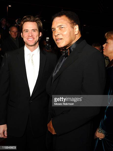 Jim Carrey and Muhammad Ali during Muhammad Ali Center Grand Opening Red Carpet at Muhammed Ali Center in Louisville Kentucky United States