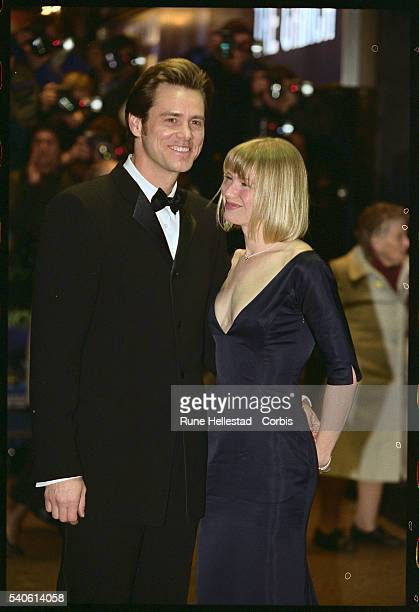 Jim Carrey and Renee Zellweger at the Premiere of How The Grinch Stole Christmas