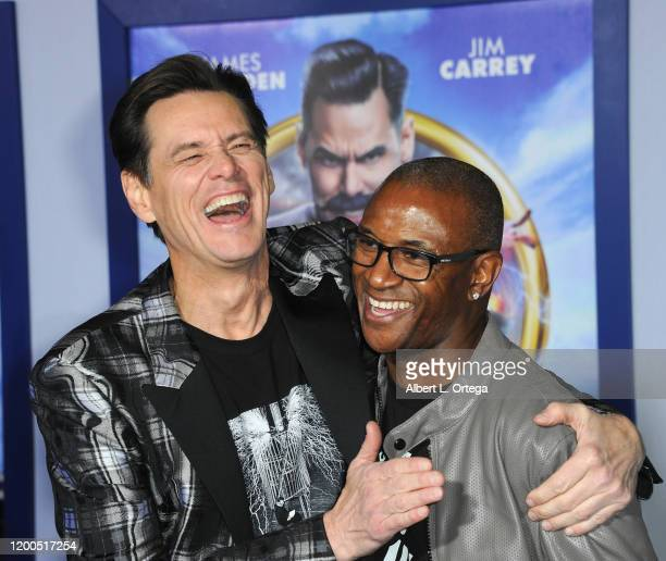 Jim Carrey and Tommy Davidson attend the LA Special Screening Of Paramount's Sonic The Hedgehog held at Regency Village Theatre on February 12 2020...