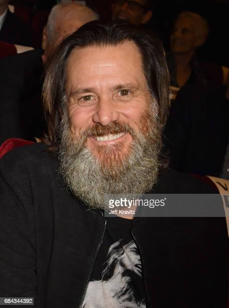 Jim Carrey at the LA Premiere of If You're Not In The Obit Eat Breakfast from HBO Documentaries on May 17 2017 in Beverly Hills California