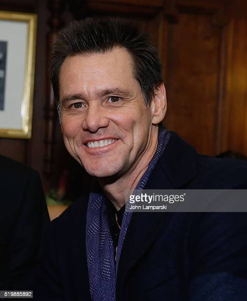 Jim Carrey attends 90th Birthday Of Jerry Lewis at The Friars Club on April 8 2016 in New York City