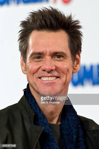 Jim Carrey attends a photocall for Dumb and Dumber To on November 20 2014 in London England