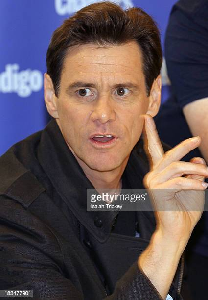 Jim Carrey attends his Book Signing For How Roland Rolls at Indigo Yorkdale on October 6 2013 in Toronto Canada