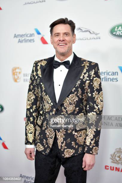 Jim Carrey attends the 2018 British Academy Britannia Awards presented by Jaguar Land Rover and American Airlines at The Beverly Hilton Hotel on...
