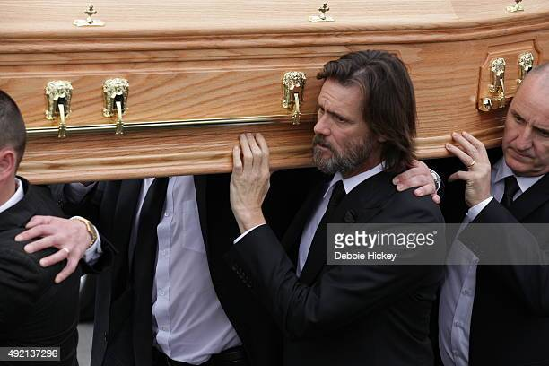 Jim Carrey attends The Funeral of Cathriona White on October 10 2015 in Cappawhite Tipperary Ireland