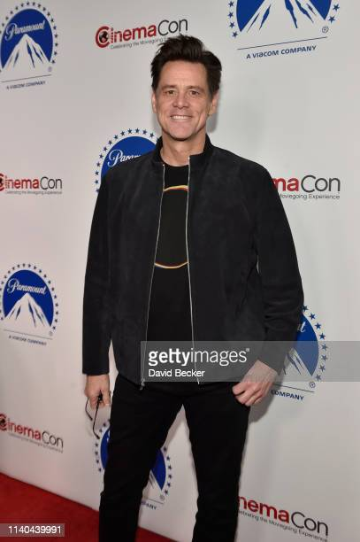 Jim Carrey attends the Paramount Pictures CinemaCon® 2019 Presentation held at The Colosseum at Caesars Palace on April 04 2019 in Las Vegas Nevada