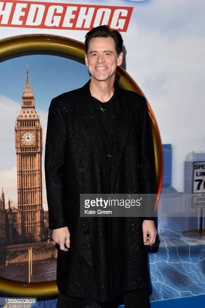 """Jim Carrey attends the """"Sonic The Hedgehog"""" Gala Screening at Vue Westfield on January 30, 2020 in London, England."""
