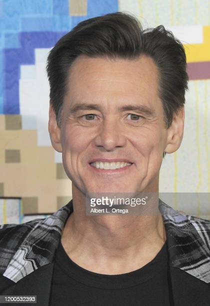 Jim Carrey attends the LA Special Screening Of Paramount's Sonic The Hedgehog held at Regency Village Theatre on February 12 2020 in Westwood...