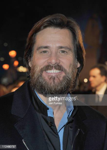 Jim Carrey attends the World Premiere of 'A Christmas Carol' at the Odeon Leicester Square on November 3 2009 in London England
