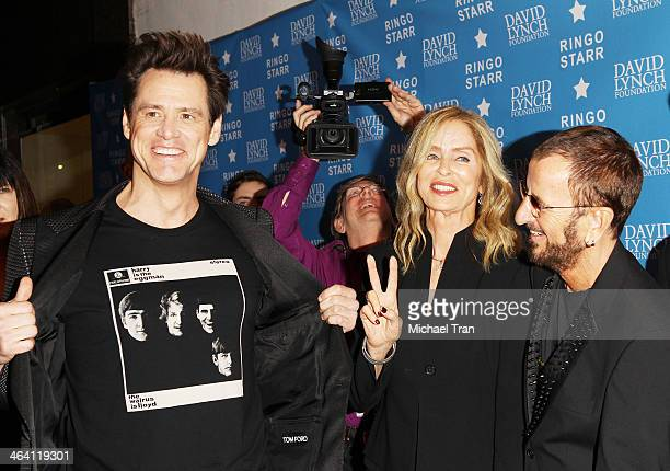 "Jim Carrey, Barbara Bach and Ringo Starr arrive at The David Lynch Foundation honors Ringo Starr with The ""Lifetime Of Peace & Love Award"" held at El..."