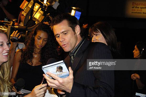 Jim Carrey during DVD Launch Party for Eternal Sunshine Of The Spotless Mind Hosted by Universal Studios Home Video Focus Features and Vanity Fair at...