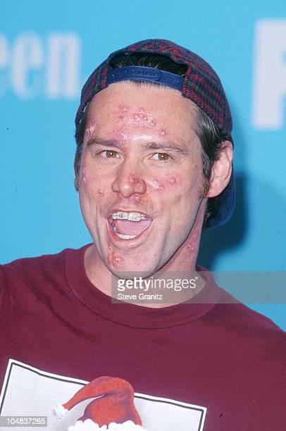 Jim Carrey during The 2000 Teen Choice Awards at Barker Hanger in Santa Monica California United States