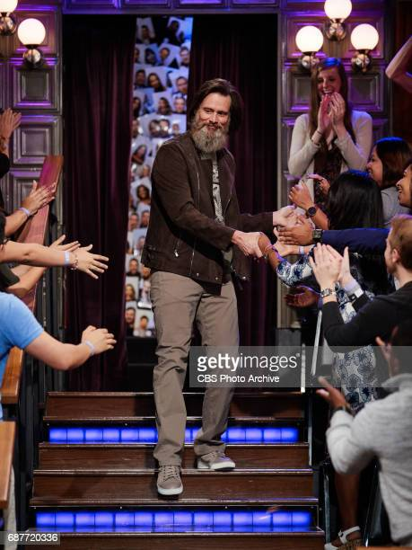 Jim Carrey greets the audience during 'The Late Late Show with James Corden' Tuesday May 23 2017 On The CBS Television Network