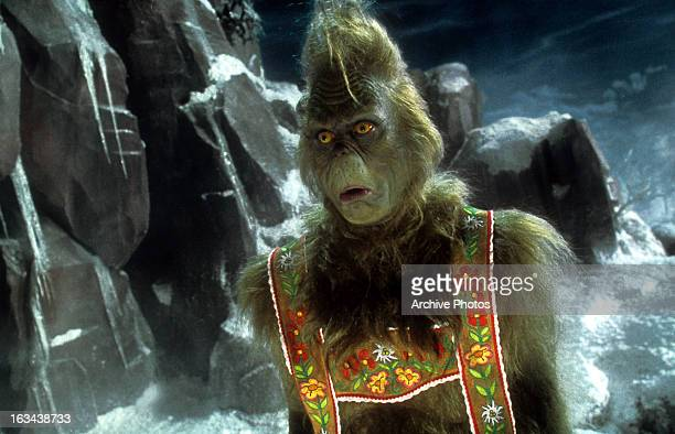 Jim Carrey in a scene from the film 'How The Grinch Stole Christmas' 2000