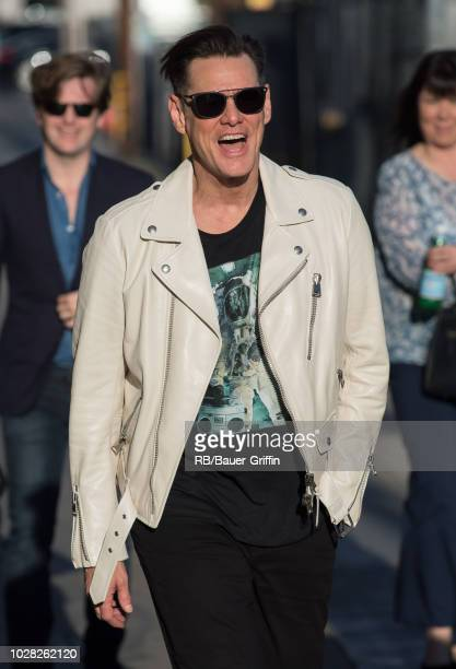 Jim Carrey is seen at 'Jimmy Kimmel Live' on September 06 2018 in Los Angeles California