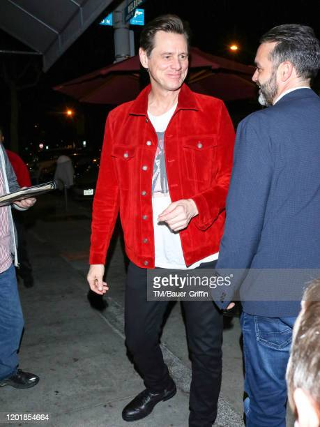 Jim Carrey is seen on February 18 2020 in Los Angeles California
