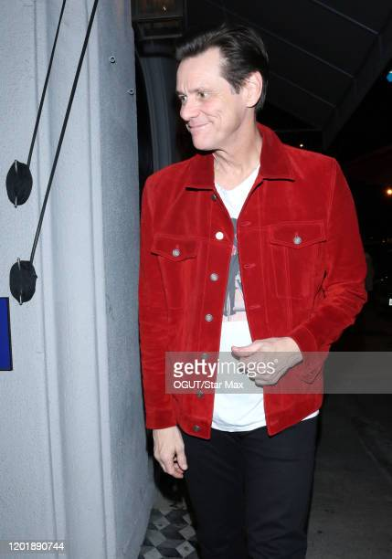 Jim Carrey is seen on February 19 2020 in Los Angeles California