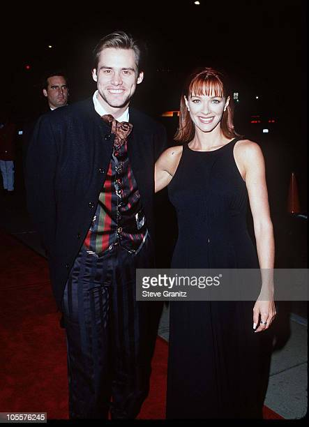 Jim Carrey Lauren Holly during Dumb and Dumber Hollywood Premiere at Cinerama Dome Theater in Hollywood California United States