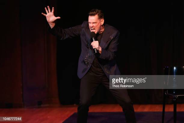 Jim Carrey speaks on stage during the 2018 New Yorker Festival on October 6 2018 in New York City