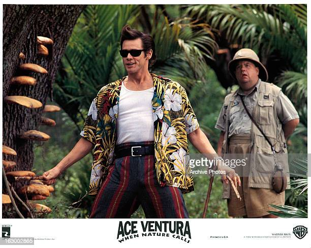 Jim Carrey ventures through the jungle in a scene from the film 'Ace Ventura When Nature Calls' 1995