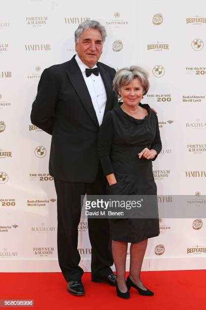 Jim Carter and Imelda Staunton attend The Old Vic Bicentenary Ball to celebrate the theatre's 200th birthday at The Old Vic Theatre on May 13 2018 in...