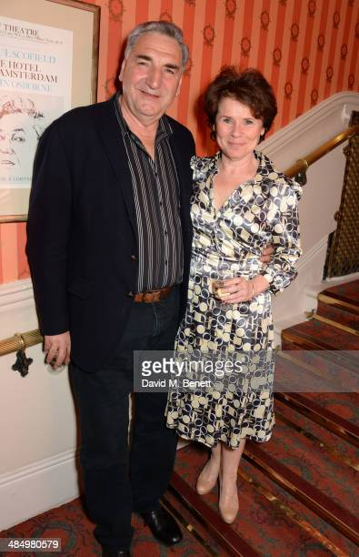Jim Carter and Imelda Staunton attend the press night performance of Good People at the Noel Coward Theatre on April 15 2014 in London England
