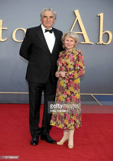 Jim Carter and Imelda Staunton attends the Downton Abbey World Premiere at Cineworld Leicester Square on September 9 2019 in London England