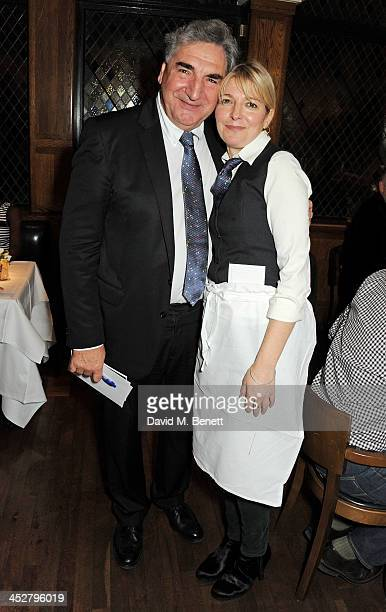 Jim Carter and Jemma Redgrave attend One Night Only at The Ivy in aid of Acting For Others supported by Tanqueray No TEN at The Ivy on December 1...